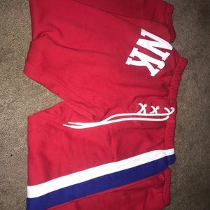 PINK VS Red sweatpants